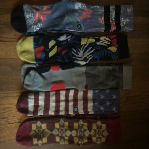 Lot of 5- Stance socks (casual and athletic)